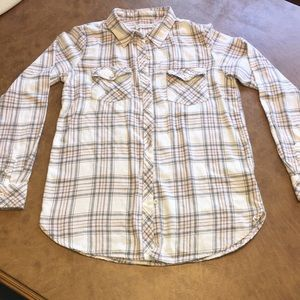 Volcom plaid Flannel button down